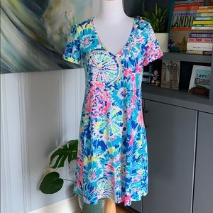 Lilly Pulitzer Jessica dress multi dive in XS